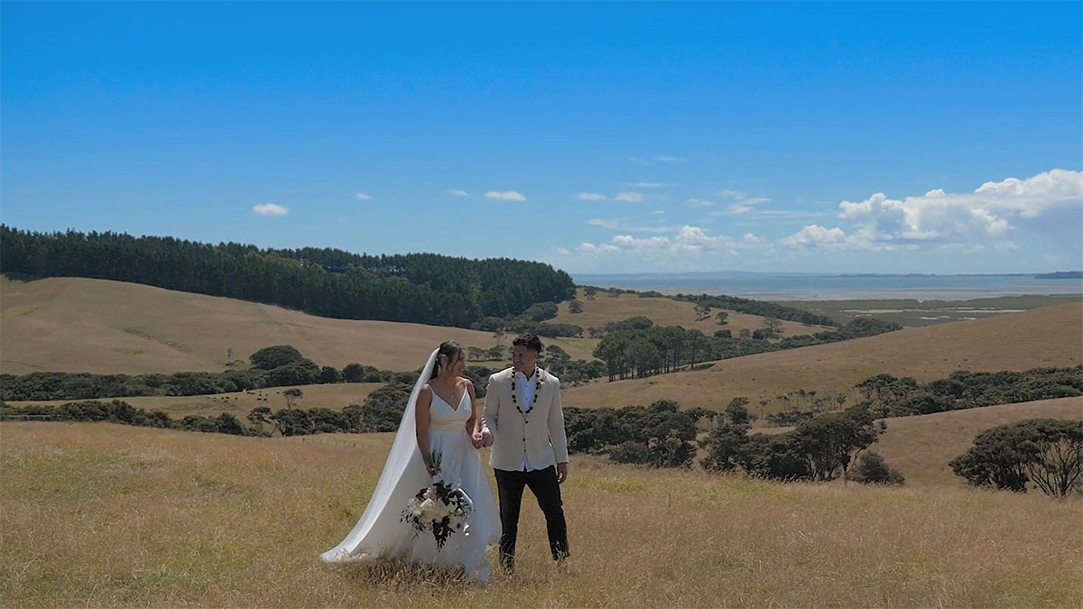 waterfall farm wedding videographer
